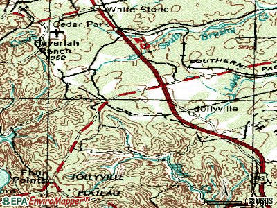 Anderson Mill topographic map