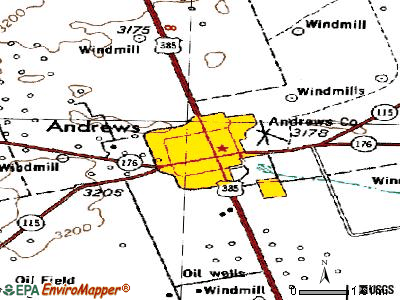 Andrews topographic map