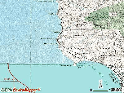Moss Beach topographic map