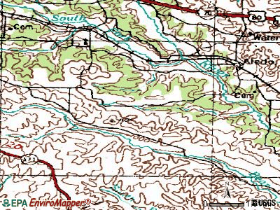 Annetta South topographic map
