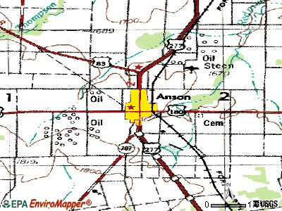 Anson topographic map