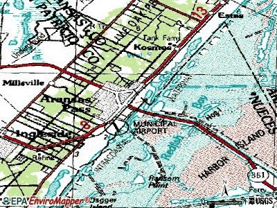 Aransas Pass topographic map