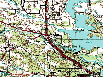 Azle topographic map