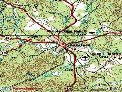 Bandera topographic map