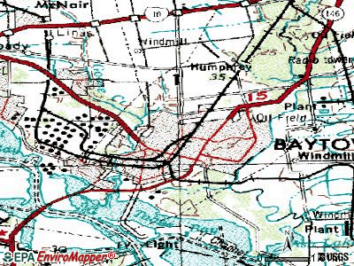 Baytown topographic map