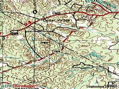 Bear Creek topographic map