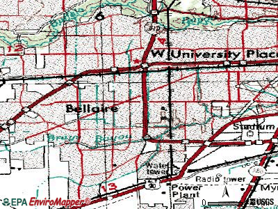 Bellaire topographic map