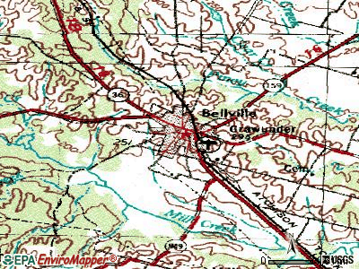 Bellville topographic map