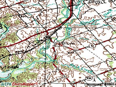 Blum topographic map