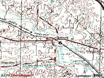 Boyd topographic map