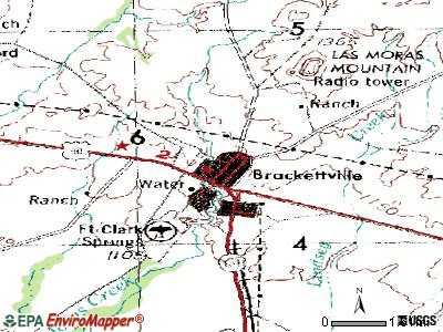 Brackettville topographic map