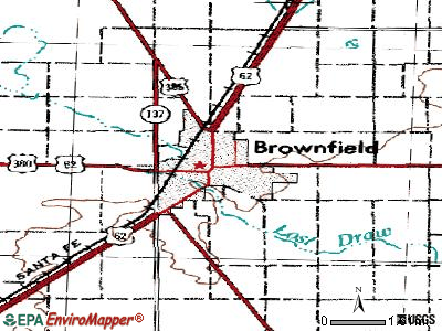Brownfield topographic map