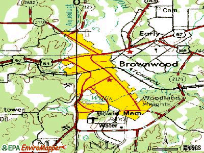 Brownwood topographic map
