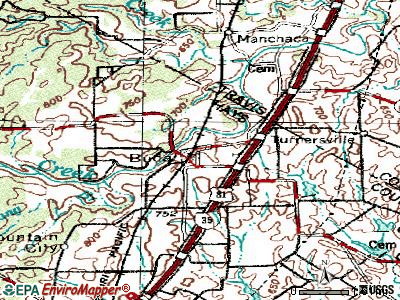 Buda topographic map