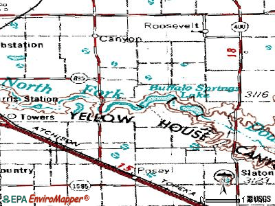 Buffalo Springs topographic map