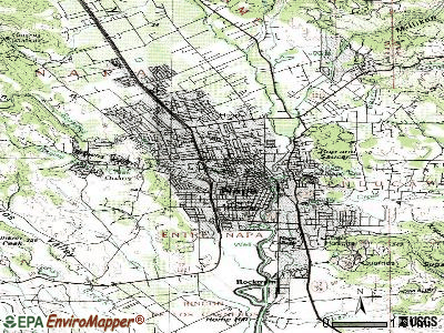 Napa topographic map