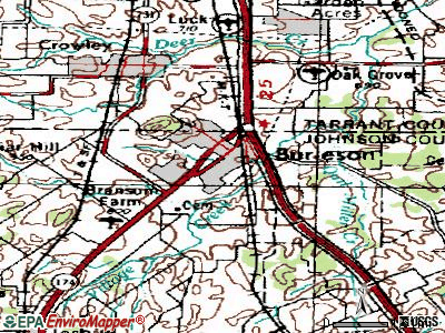 Burleson topographic map