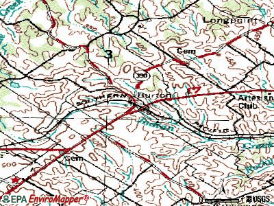 Burton topographic map