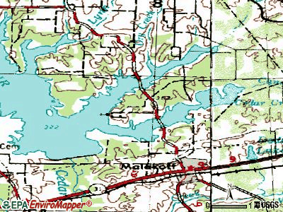 Caney City topographic map