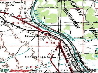 Needles topographic map