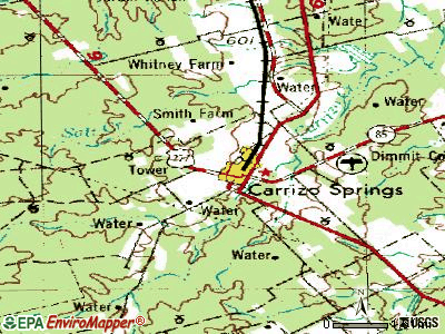 Carrizo Springs topographic map