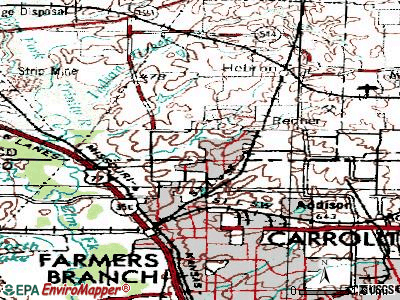 Carrollton topographic map