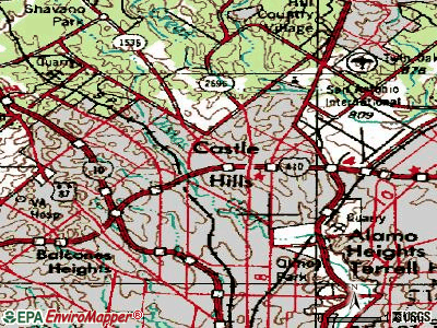 Castroville topographic map