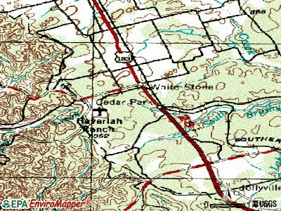 Cedar Park topographic map