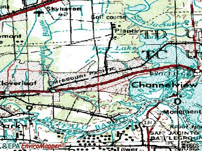 Channelview topographic map