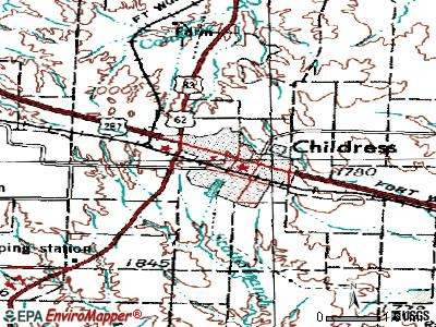Childress topographic map