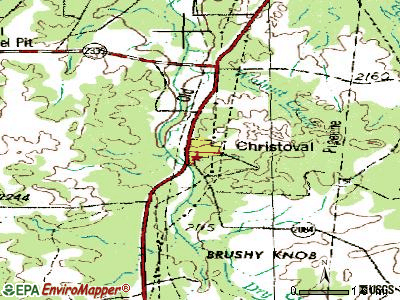 Christoval topographic map