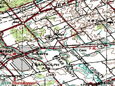 Cibolo topographic map