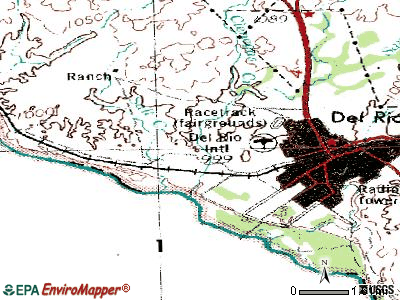 Cienegas Terrace topographic map