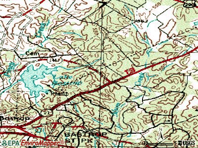 Circle D-KC Estates topographic map