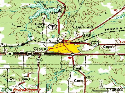 Cisco topographic map