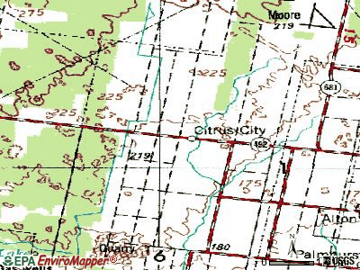 Citrus City topographic map