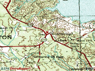 Coldspring topographic map