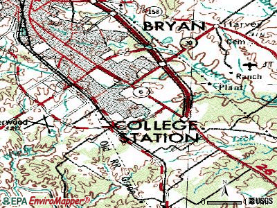 College Station topographic map