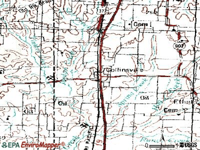 Collinsville topographic map