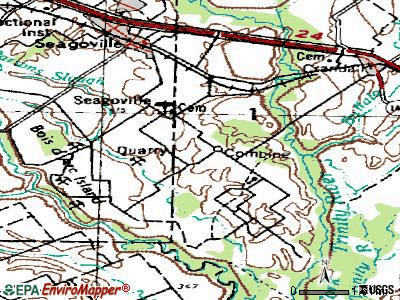 Combine topographic map