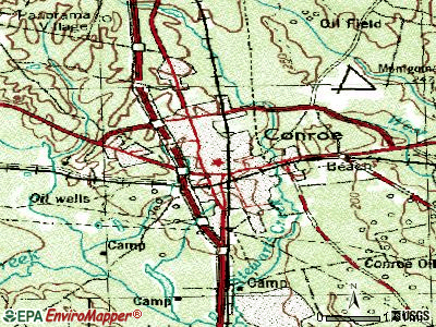 Conroe topographic map