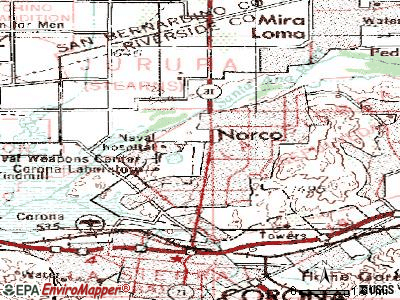 Norco topographic map