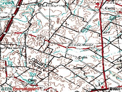 Creedmoor topographic map