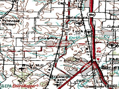 Crowley topographic map