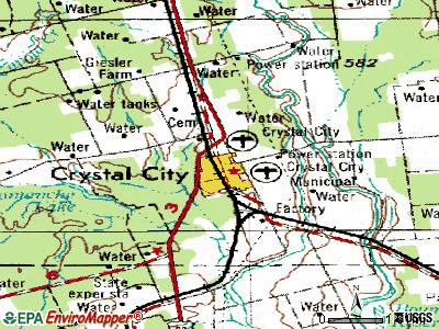 Crystal City topographic map