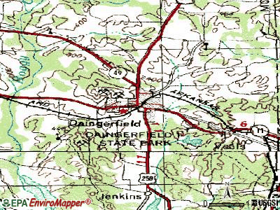 Daingerfield topographic map