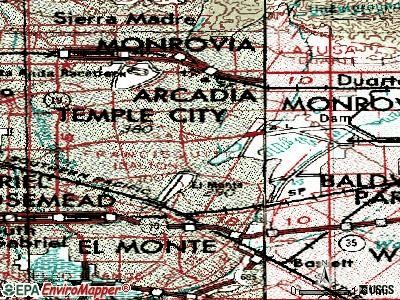 North El Monte topographic map