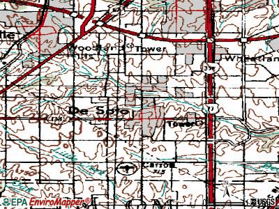 DeSoto topographic map