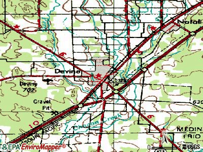 Devine topographic map