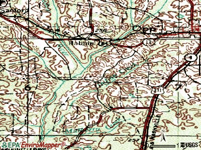 Horn Hill topographic map